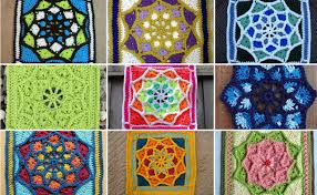 afghan square pattern sun catcher