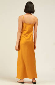 Ada Long Slip Dress - Marigold Well Made Clothes