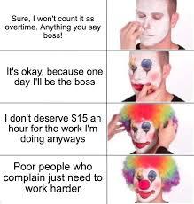 putting on clown makeup meme maker