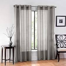 Buy Ruthy S Textile 2 Piece Voile Window Sheer Curtains Grommet Panels For Bedroom Decor Living Room Size 54 X 84 By Bsd Superbuy Inc On Opensky