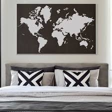 World Map Stencil Reusable Wall Stencil Instead Of Decals
