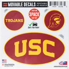 Usc Trojans Repositionable 3 Pack Decal Set