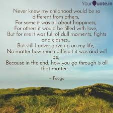 never knew my childhood w quotes writings by pooja goyal