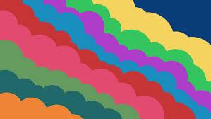 colorful clouds bubbles digital 2d