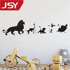 Vova Jiangs Yu 1 Pc Cartoon Lion King Simba Wall Decals Car Window Vinyl Decal Sticker Art Decor Removable Wall Sticker