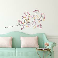 Zoomie Kids Pastel Flowers Branch Giant Wall Decal Reviews Wayfair