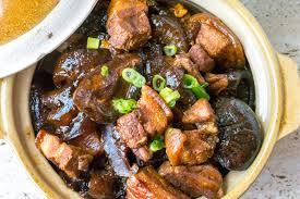 Braised Mushroom and Pork Belly with ...