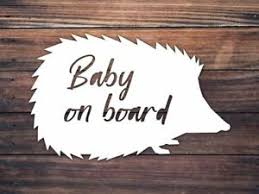 Baby On Board Car Window Decal Hedgehog Baby On Board Decal Woodland Baby Ebay