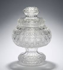 gillinder glass covered compote