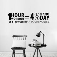 Free Shipping Fitness Center Wall Decal Workout Gym Vinyl Sticker Healthy Lifestyle Home Decor Wall Art Murals Wall Decals C06 In 2020 Quote Decor Home Decor Wall Art Vinyl Wall Decals