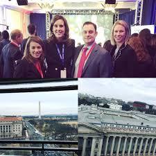 "Poppy MacDonald در توییتر ""Scenes from the #politicohub #Inauguration2017  w/ talented @politico team @BDayspring @POLITICOAlexis & Cally Baute… """