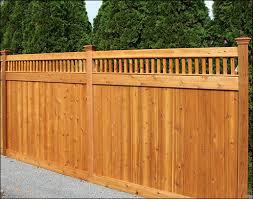 Custom Fencing Fence Design Red Cedar House Paint Exterior