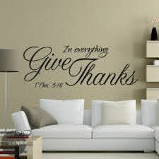 Wall Decal In Everything Give Thanks 1 Thessalonians 5 18 Vinyl Sticker Gd186 For Sale Online Ebay