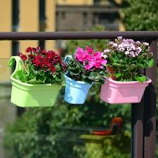 Hanging Balcony Planter Large Trough Rectangular Grey Fence Railing Flower Pots For Sale Ebay