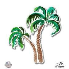 Gt Graphics Eleacb0754pxhj9 Palm Trees Watercolor 3 Vinyl Sticker For Car Laptop Ipad Phone Helmet Hard Hat Waterproof Decal