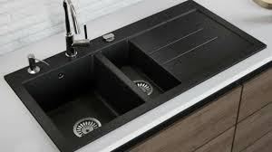 lavello black granite double bowl