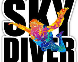 Skydiver Decal Etsy