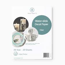 Amazon Com Hayes Paper Waterslide Decal Paper Inkjet Clear 20 Sheets Premium Water Slide Transfer Transparent Printable Water Slide Decals A4 Size Office Products