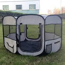 Animal Playpen Portable Foldable Pet Tent Folding Fence Waterproof Dog Cage Kennel Tent Bed Amazon Co Uk Kitchen Home