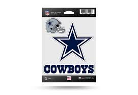 Nfl Football Dallas Cowboys Window Decal Sticker Set Officially Licensed Custom Sticker Shop