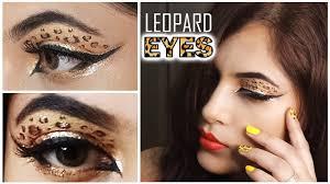 leopard print eyeshadow makeup