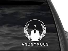 Amazon Com Fgd Anonymous Rear Window Decal Car Truck Suv Laptop 6 5 X6 5 We Are Anonymous Automotive