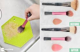 how to clean your makeup brushes and