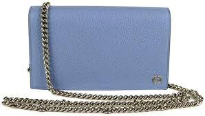 gucci women s 100 light blue leather