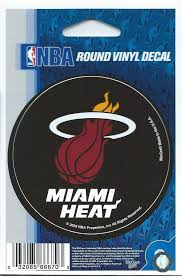 Miami Heat 3 Round Vinyl Decal Sticker Licensed In Outdoor At Amazon S Sports Collectibles Store
