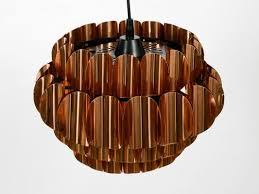 large vintage copper pendant lamp from