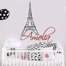Amazon Com Wall Decal Name Eiffel Tower Girls Name Decal Girl Wall Vinyl Sticker Nursery Art Paris Nursery Personalized Name Nursery Wall Decor F100 Handmade