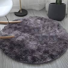 round rugs fluffy soft touch dazzle