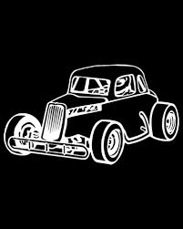 Vintage Coupe Race Car Decal Race Track Wholesale