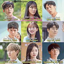 """kdrama scene on instagram """"the age difference of the cast of"""