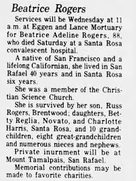 Obituary for Beatrice Adeline Rogers (Aged 88) - Newspapers.com