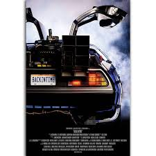 Unframed Printed Poster Abstract Back To The Future Classic Car Delorean Nordic Decoration Canvas Modern Oil Art Painting Home Wall Decal 50 X 70 Cm Wish