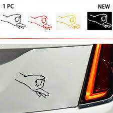 Car Truck Window Funny Jdm Gotcha Finger Circle Game Vinyl Decal Sticker X2