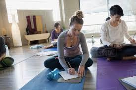 journals at restorative yoga retreat