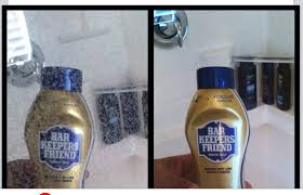 use bar keepers friend to remove hard