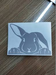 1841663061 For Car 15 11cm Peeking Bunny Cute Rabbit Humour Animal Outdoor Decal Vinyl Wrap Decor Decals Car Accessories Car Stickers Automobiles Motorcycles Exterior Accessories