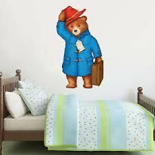 Paddington Bear Wall Decal Padd 005 Art Mural Kids Bedroom Sticker Nursery Ebay