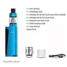 Original 60w Smok Priv V8 Kit With 3ml Tfv8 Baby Tank Electronic Cigarette Vape Kit Vaporizer Sale Price Reviews Gearbest