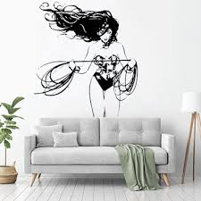 Wall Decal Vinyl Sticker Dc Super Hero Wonder Woman Wall Mural For Girls Kid Rooms House Decoration Design Decor Poster Ww 300 Buy At The Price Of 5 18 In Aliexpress Com Imall Com
