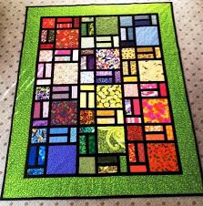 easy stained glass quilt in green