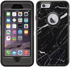 Amazon Com Teleskins Protective Designer Vinyl Skin Decals Stickers Compatible With Otterbox Defender Iphone 6 Iphone 6s Case Black Marble Design Patterns Only Skins And Not Case