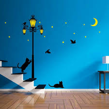 Walplus Glow In Dark Street Light Wall Decal Reviews Wayfair