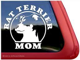 Rat Terrier Mom Dog Decals Stickers Nickerstickers