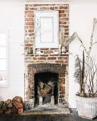 rustic fireplace in the cottage