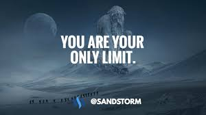 quote of the day you are your only limit 👊 steemit