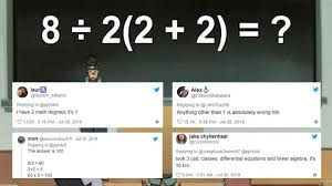 math equation is dividing the internet